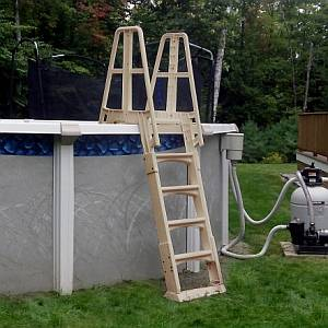 Taupe A-Frame Pool Ladder