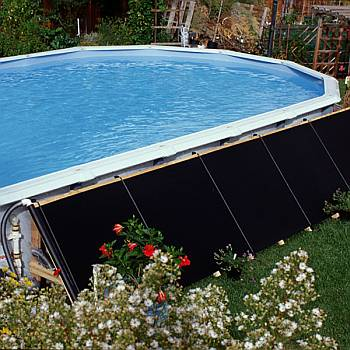 Solar pool heaters heating panels for in ground above ground swimming pools for Solar heaters for swimming pools