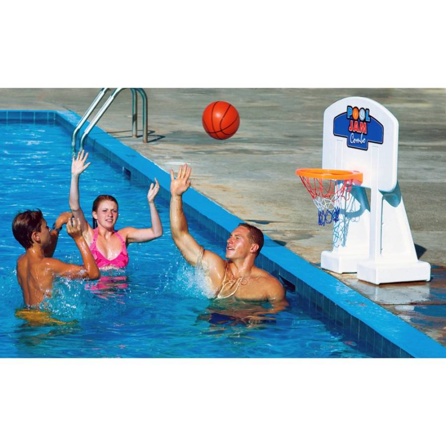 Volleyball basketball game kits for in ground swimming for Pool design for volleyball