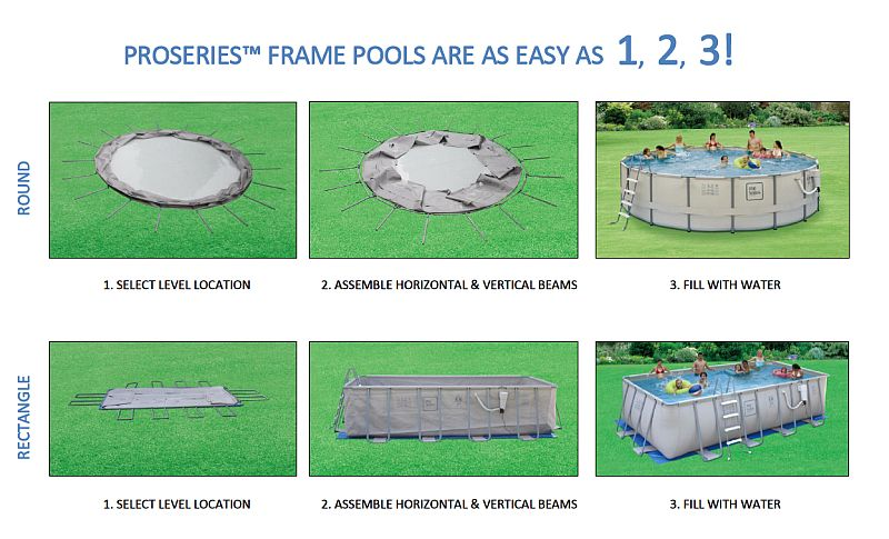 9x18 Ft Rectangle X 52 Inch High Proseries Metal Frame Swimming Pool