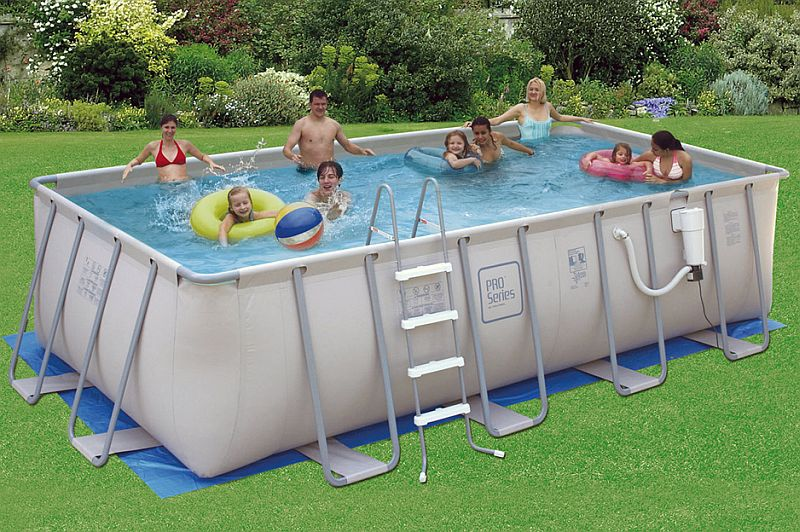 9x18 FT Rectangle x 52 Inch High ProSeries Metal Frame Swimming Pool ...