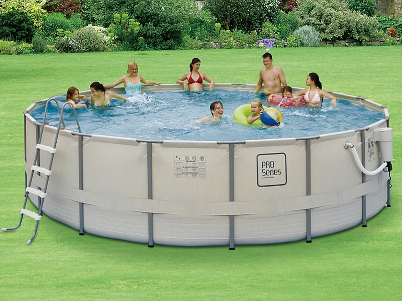 18 FT Round x 52 Inch High ProSeries Metal Frame Swimming Pool - NB2041
