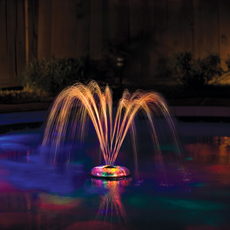 small underwater pool light show and fountain 3657. Black Bedroom Furniture Sets. Home Design Ideas