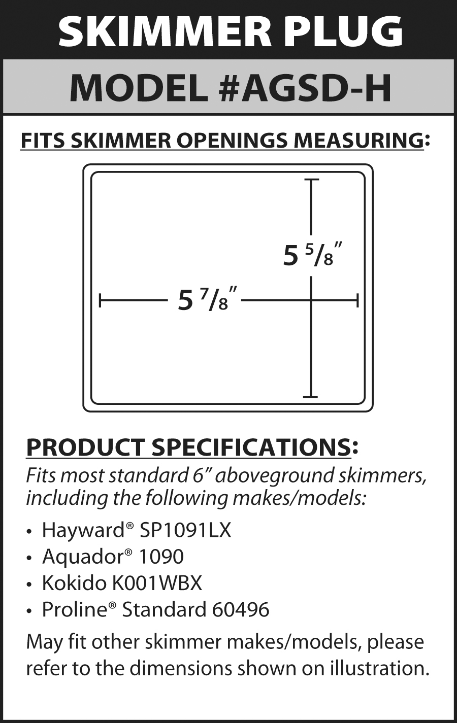 All New Skimmer Plugs Protect Your Above Ground Pool
