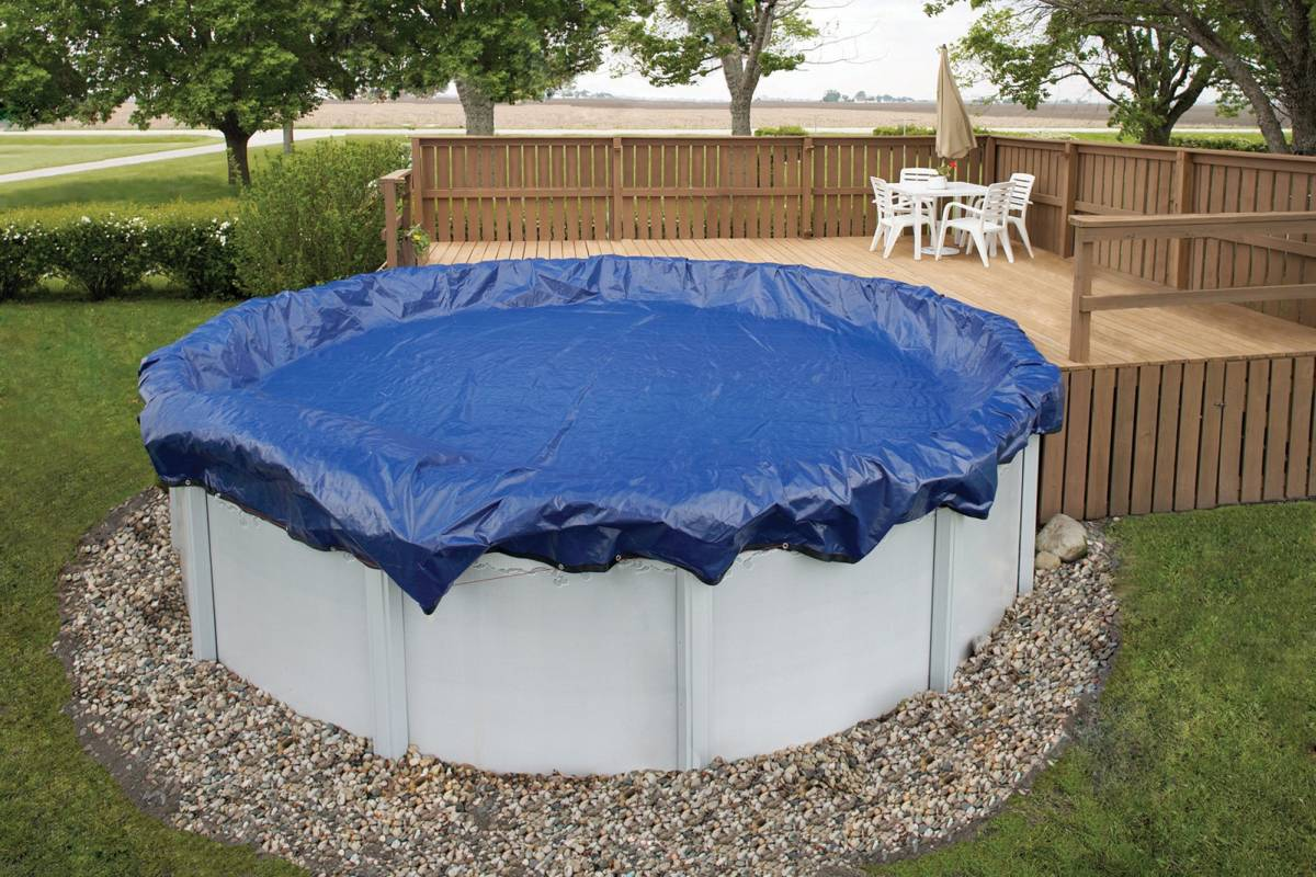 Winter Pool Cover / 16ft x 28ft Oval Above Ground Pool - WC926-4