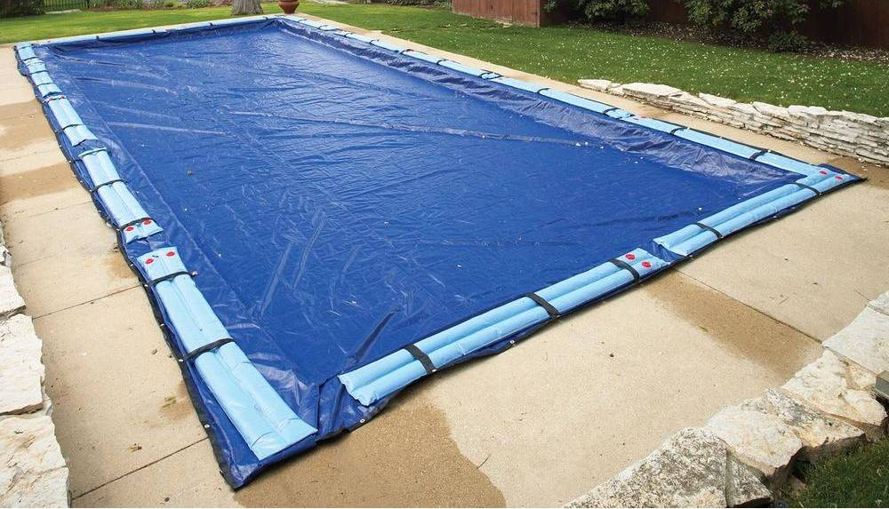 Winter Cover / Pool Size 16ft x 36ft Rectangle / 15yr Royal Blue - WC960