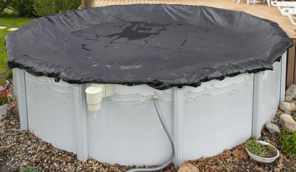 Rugged Mesh Winter Pool Cover 24ft Round Above Ground Pool WC608