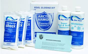 Chlorine free winterizing pool chemical kit ny938 for Chemicals needed to close swimming pool