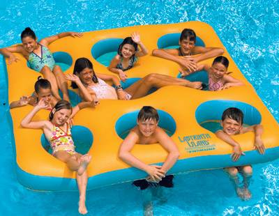 labyrinth island pool float Swimming Pools For Kids