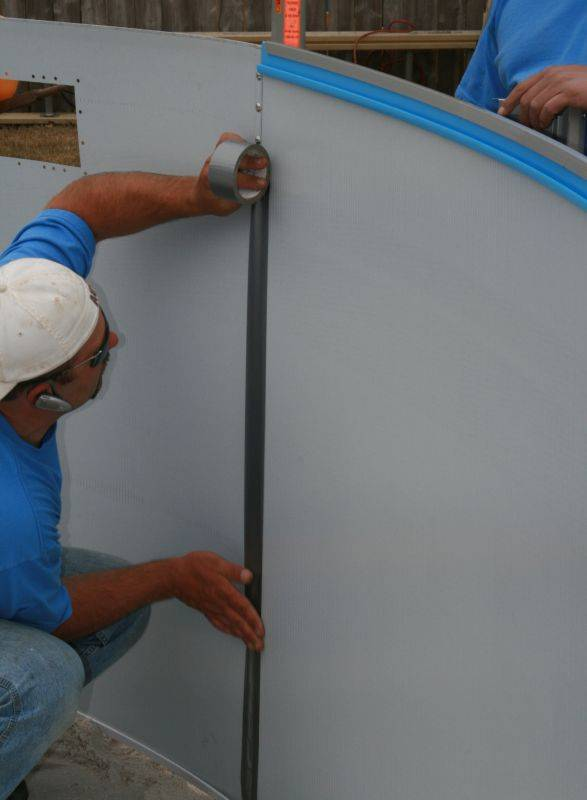 Swimming Pool Wall Replacement : Above ground swimming pool installation guide