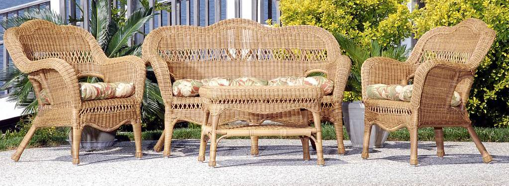 Sahara All Weather Resin Wicker Furniture Set (Click To Enlarge)