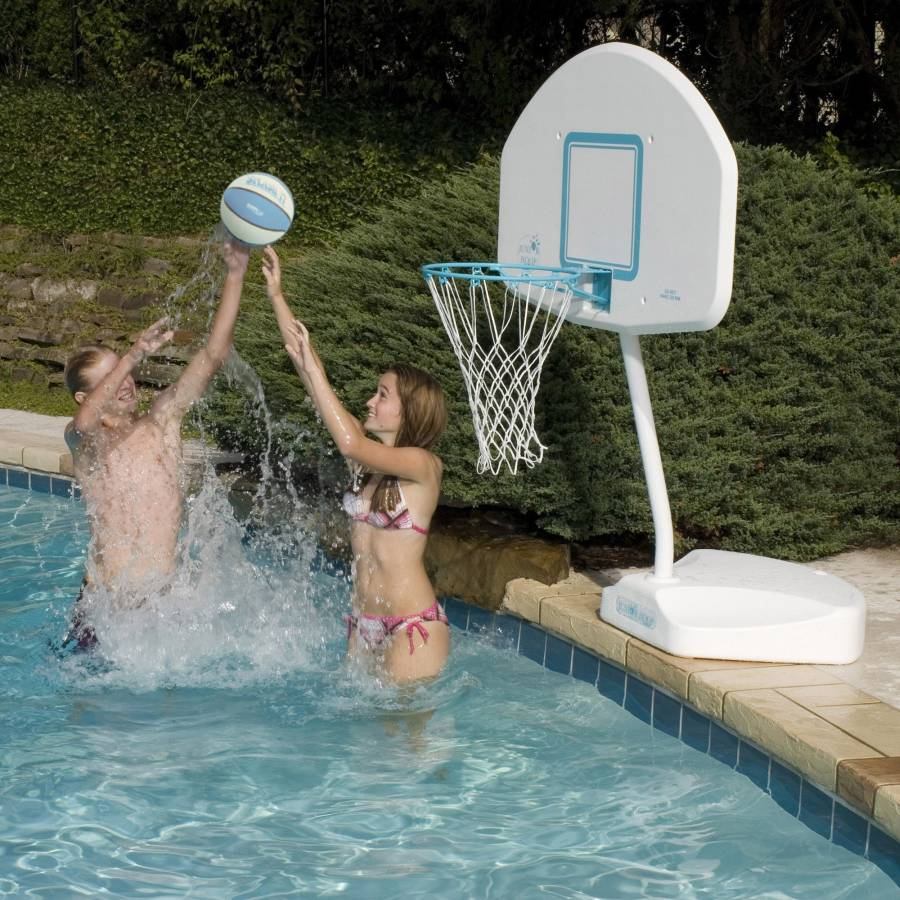Juniorhoop Portable Basketball Game For In Ground Swimming Pools B800