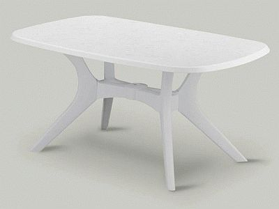 Attractive KETTALUX 38in X 63in Rectangle Poolside Table