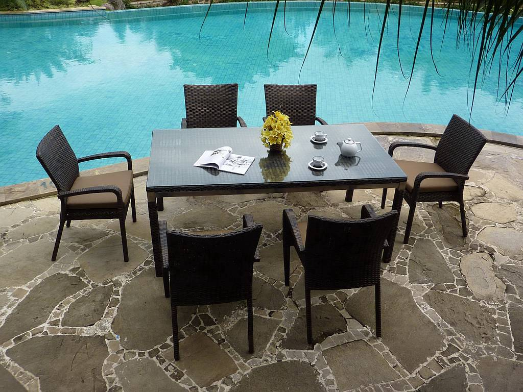 conrad dining collection resin wicker outdoor patio furniture tweet