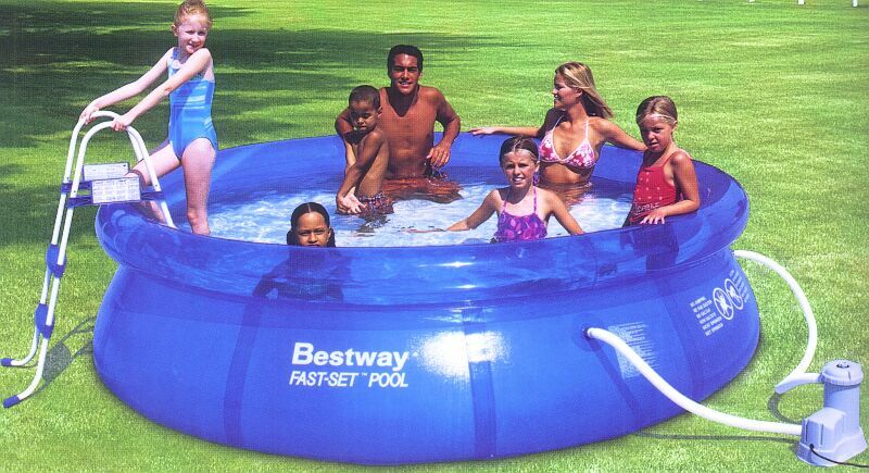 Inflatable Above Ground Swimming Pool Fast Set 12 X 36