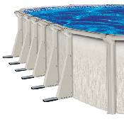 Barbados 21 X 43 X 52 Inch Oval Pool Liner And Skimmer