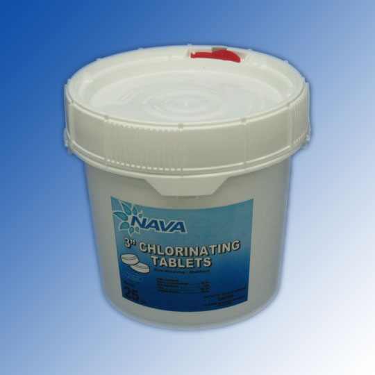 Nava 3 Inch Chlorine Tablets 25lbs For Swimming Pools Nav 50 3625