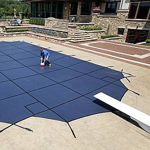 Safety Pool Covers for Swimming Pools - Mesh, Solid or Custom