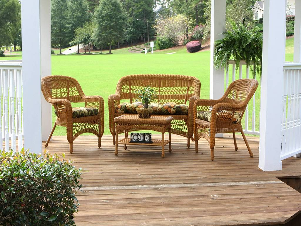 Tortuga Portside Southwest Amber Wicker Conversation Set (Click To Enlarge)