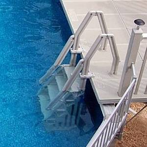 Deluxe In Pool 24 inch Resin Step Ladder