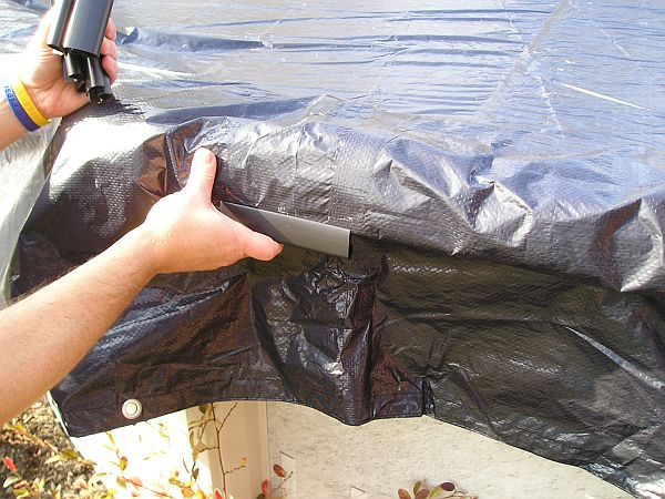 How will you keep your winter cover in place swimming pool blog for Swimming pool winter cover clips