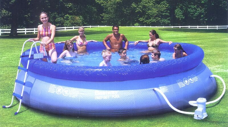 Inflatable Above Ground Swimming Pool Fast Set 15ft X